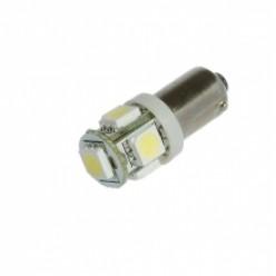 Автомобильная светодиодная лампа BA9S, 5pcs smd 5050 Белая
