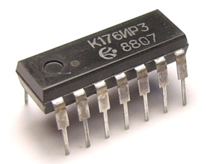 Микросхема К176ИР3 (CD40115E)