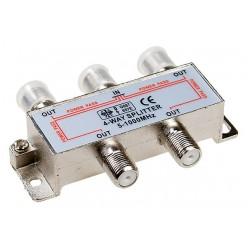 Делитель ТВ сигнала на четыре ТВ приемника с проходом питания на все порты