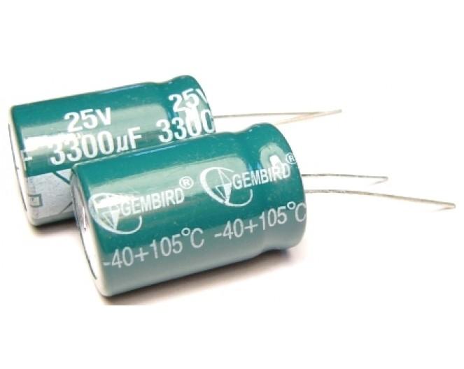 Конденсатор 3300mkF x 25V 105*С комп.