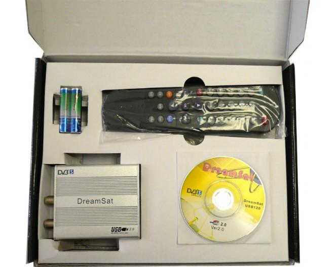 Карта DVB-S2 DreamSat USB-220 (спутн. интернет) внешний ( USB ) + ПДУ