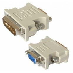 Переходник штекер DVI 25M - гнездо VGA15F