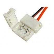 Коннектор для подключения одноцветной ленты шириной 10мм с проводами
