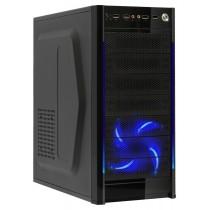 Корпус ATX BoxIT 4508BU без БП 12cm blue LED fan 4хUSB black