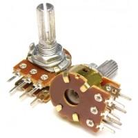 Потенциометр Резистор переменный стерео ( 2 ряда ) 50 Ком
